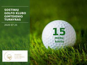 Sostinių golfo klubo XV-ojo gimtadienio turnyras
